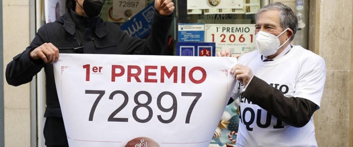 Pioggia di premi alla lotteria di Natale Spagnola. El Gordo è il 72897
